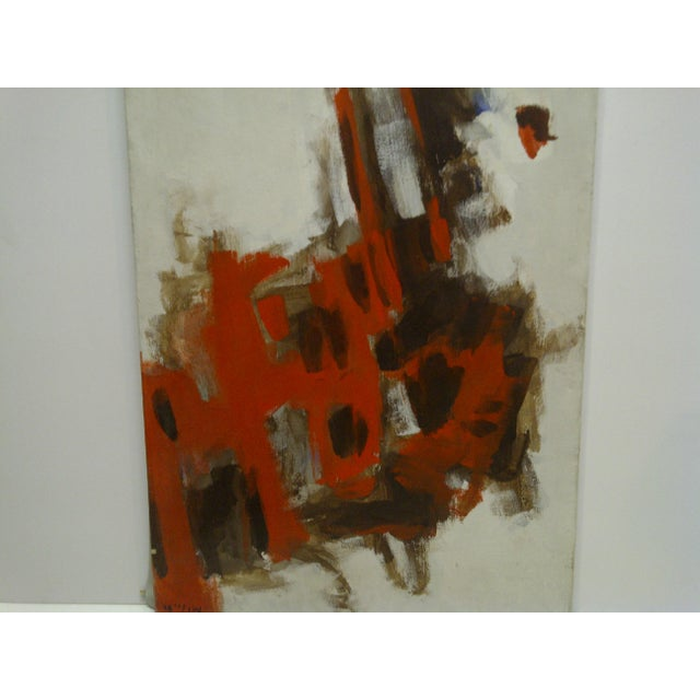 """Contemporary 20th Century Contemporary Original Framed Painting on Canvas, """"Red Explosion"""" by Frederick McDuff For Sale - Image 3 of 6"""