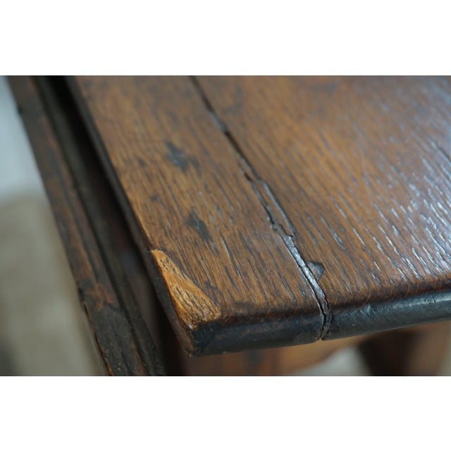 18th Century English Oak Drop Leaf Gateleg Table For Sale - Image 12 of 13