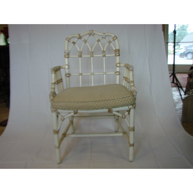 Vintage McGuire Rattan Arm Chairs - Pair - Image 5 of 6