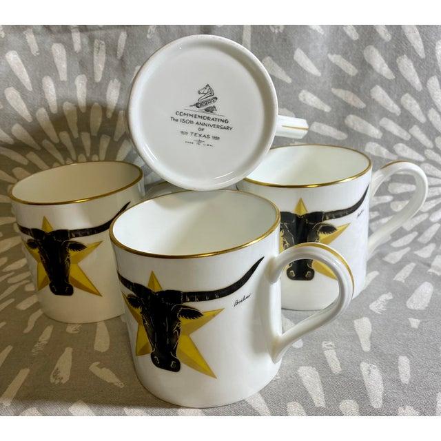 1986 Vintage Longhorn Steer & Star Boehm Mugs - Set of 4 For Sale - Image 4 of 12