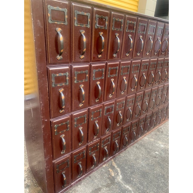 Industrial Mid 20th Century Vintage Industrial File Cabinet For Sale - Image 3 of 11