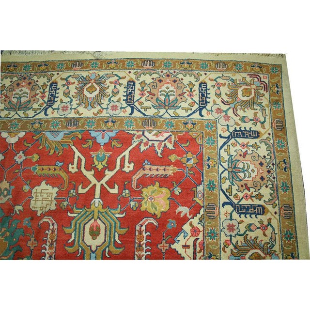 "Antique Signed Decorative Persian Tabriz Rug - 9'6"" x 12'11"" - Image 3 of 6"