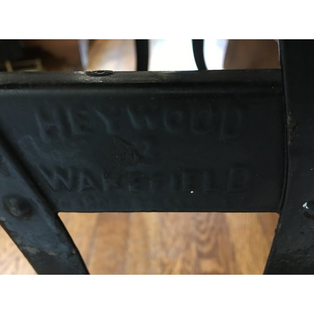 Cast Iron 1916 Early American Heywood Wakefield School Desk For Sale - Image 7 of 9
