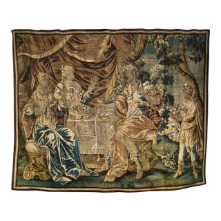 17th Century Aubusson Cleopatra and Anthony Tapestry Wall Hanging For Sale