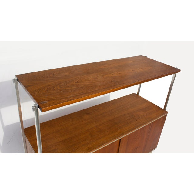 Walnut and Aluminum Cabinet by Hugh Acton For Sale - Image 6 of 13