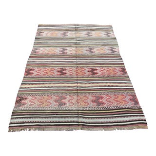 Rustic Turkish Kilim Rug For Sale