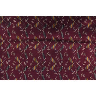 Cross Oars & Anchors Plum Colored Fabric - 1.5 Yards