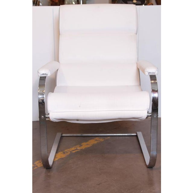Art Deco Machine Age Art Deco Gilbert Rohde for Troy Sunshade Flat Band Springer Chair For Sale - Image 3 of 11