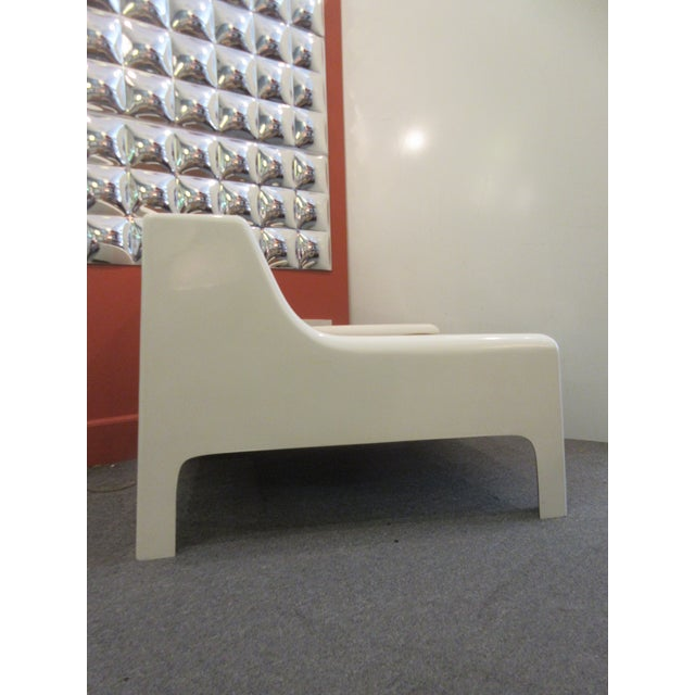 Cappellini Sofa and Chair set in Painted White Fiberglass - Image 3 of 10