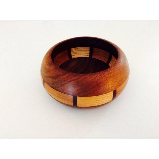 Mid-Century Style Wood Bowl - Image 9 of 9
