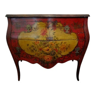 19th Century Venetian Painted Chest or Commode For Sale