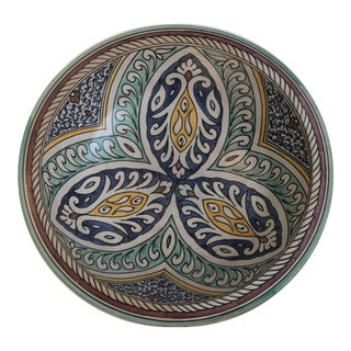 Moroccan Hand Painted Ceramic Plate
