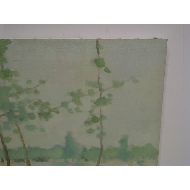 "Contemporary 20th Century Contemporary Original Framed Painting on Canvas, ""Trees"" by Frederick McDuff For Sale - Image 3 of 6"