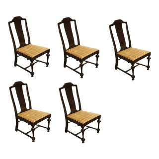 W.F. Whitney Co. Mahogany Splat Back Dining Side Chairs- Set of 5 For Sale