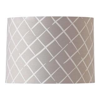 Large Madcap Cottage Trellis Print Fabric Lamp Shade For Sale