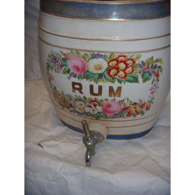 Old Ornate English Pub Porcelain Rum Dispenser - Image 4 of 6