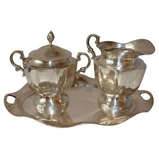 Sterling Silver Coffee Set - 3 Pieces For Sale