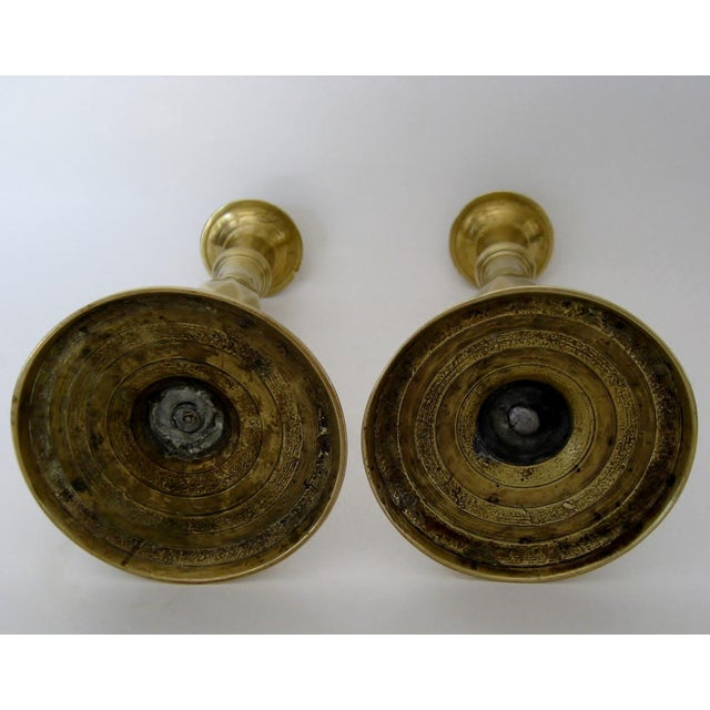 Vintage Brass Candlesticks - a Pair - Image 6 of 6
