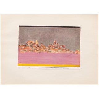 """1955 Paul Klee """"City on Two Hills"""", First Edition Lithograph For Sale"""