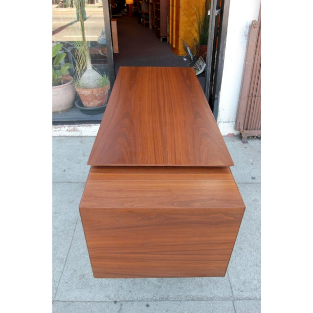Mid-Century Style Walnut Desk For Sale - Image 11 of 13