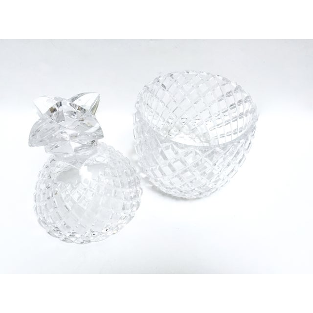 Vintage Large Clear Glass Pineapple With Lid - Image 3 of 9