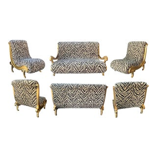 Modern Living Room Set - 6 Pieces For Sale