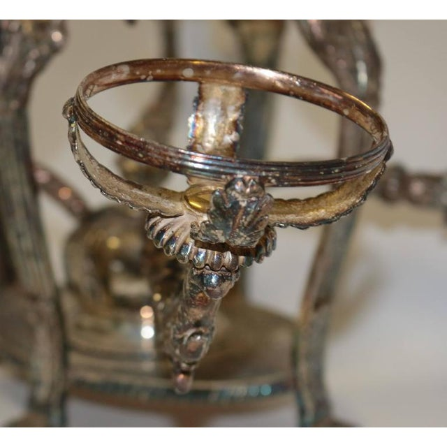 Bohemian Cut Crystal & Silver Centerpiece - Image 9 of 10