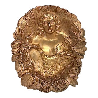 Bronze Art Nouveau Trinket Tray For Sale