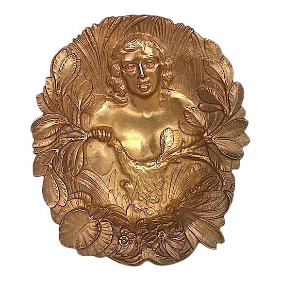 Bronze Art Nouveau Trinket Tray For Sale