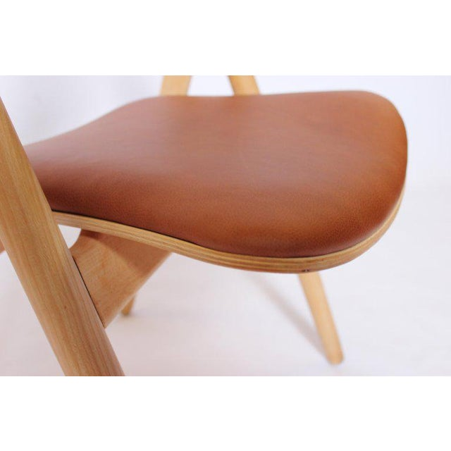 1970s Scandinavian Modern Hans J. Wegner Sawbuck Chair For Sale - Image 6 of 10