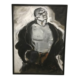 Late 20th Century Vintage Boxer Painting For Sale