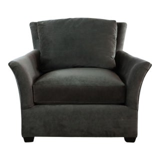 Hd Buttercup Gray Upholstered Armchair For Sale