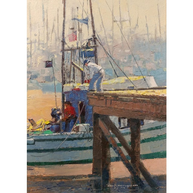 Paul Youngman - Moss Landing,CA - Seascape Scene - Original Oil Painting Oil Painting on Canvas -Signed For Sale In Los Angeles - Image 6 of 10