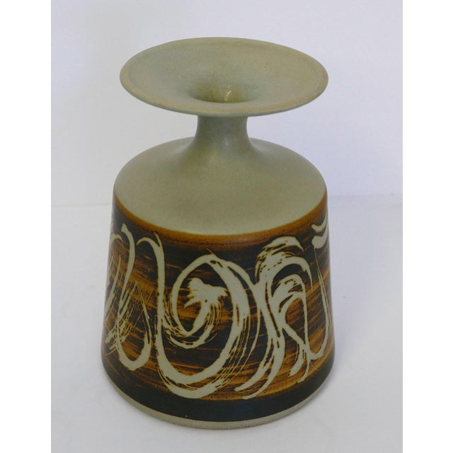 Designs West, Ca Stoneware Vessel For Sale - Image 4 of 7