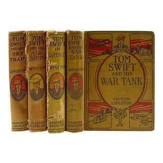 Distressed Tom Swift by Victor Appleton, 1915- Set of 4