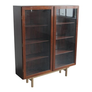 Omann Jun Rosewood & Oak Bookcase For Sale