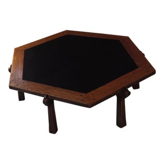 A. Brandt Ranch Oak Hexagon Coffee Table For Sale