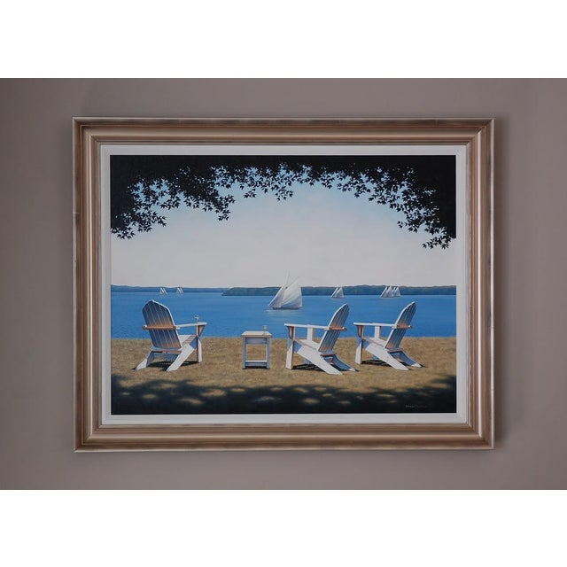Nautical Daniel Pollera, Afternoon Seating Painting, 2016 For Sale - Image 3 of 6