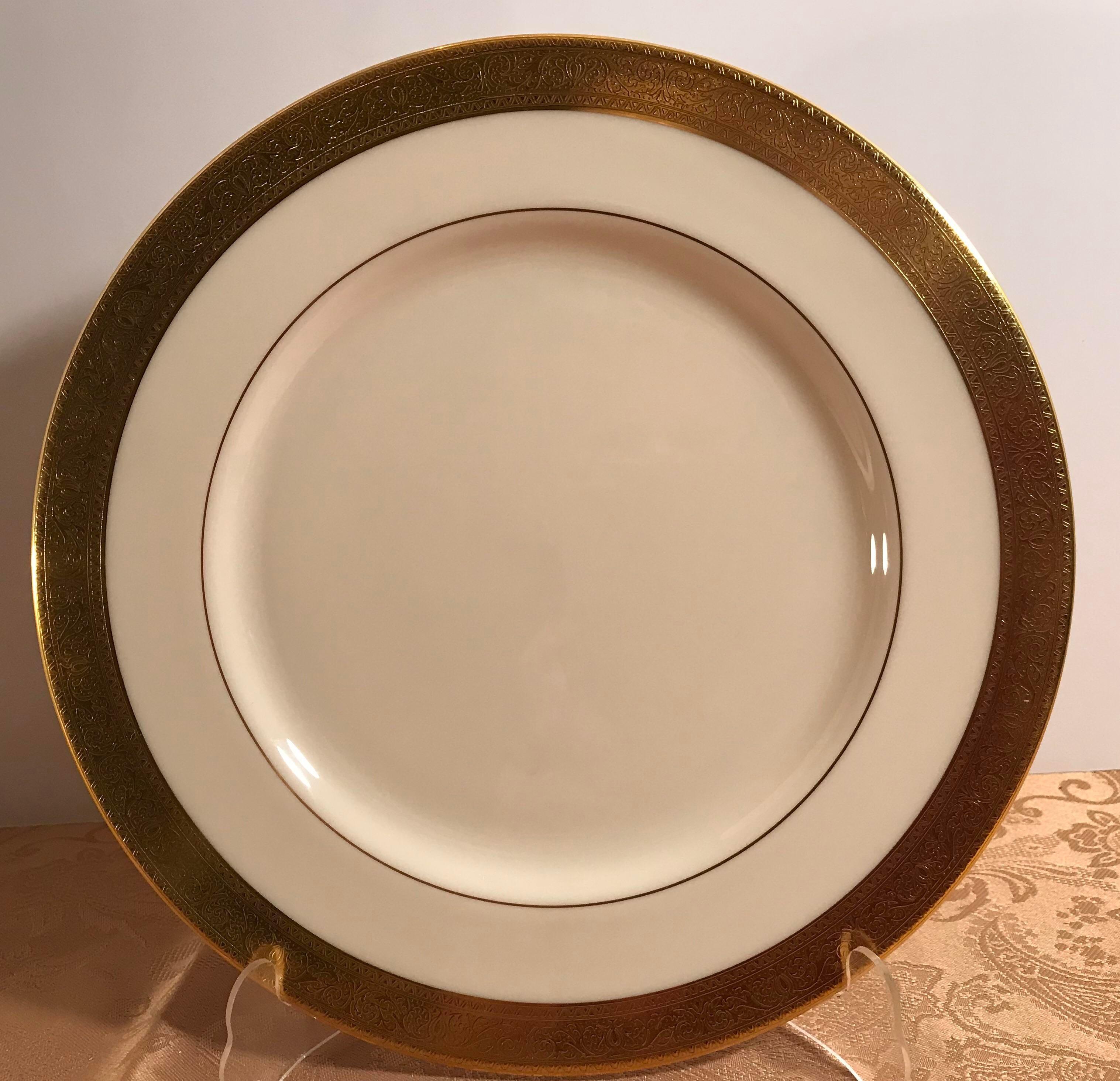 Vintage Lenox Gold Rim Fine China Dinnerware - Set of 41 - Image 6 of 11 & Vintage Lenox Gold Rim Fine China Dinnerware - Set of 41   Chairish