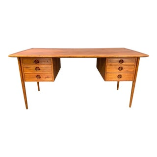 Danish Modern Teak Desk Attributed to Kai Kristensen For Sale