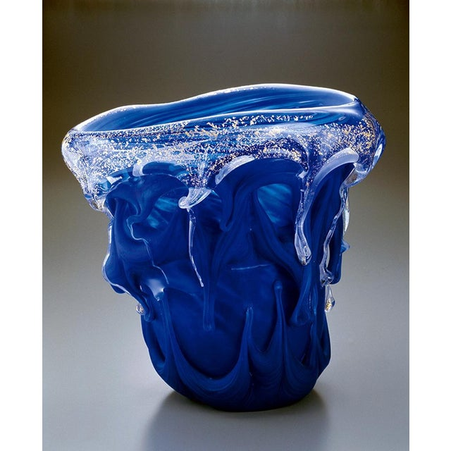 Japanese Art Glass Sculptural Vessel by Kyohei Fujita For Sale - Image 11 of 12