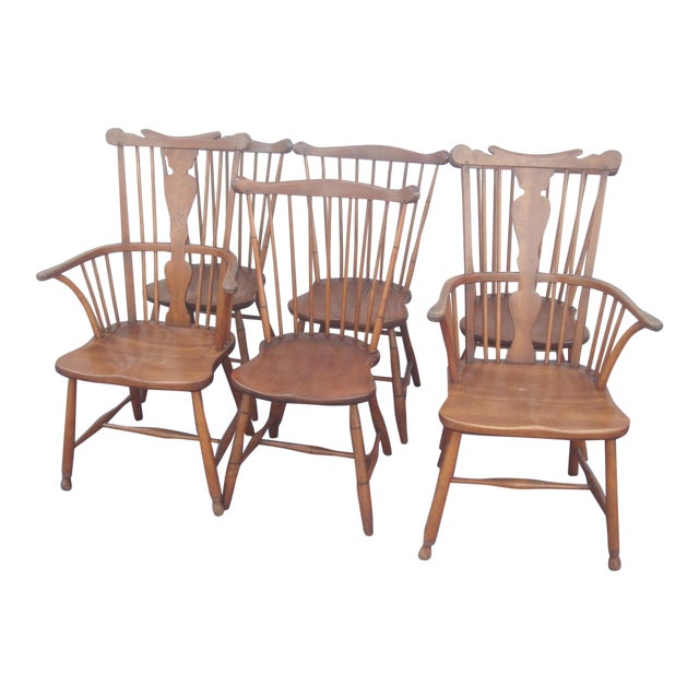 Stickley Windsor Back Dining Chairs - Set of 6 For Sale