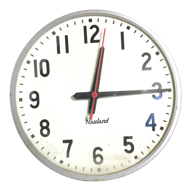Vintage Rauland School Clock - Image 1 of 8