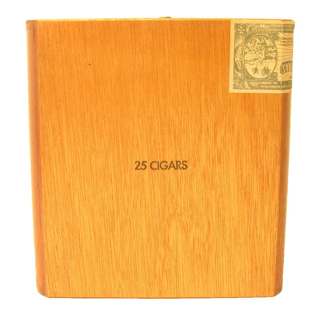 Mid-Century Modern Vintage Decorative Wood Cigar Box For Sale - Image 3 of 4