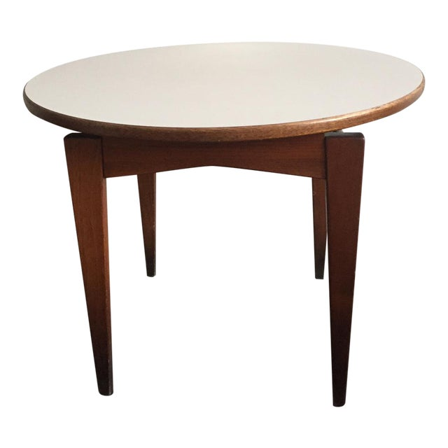 Jens Risom Side Table With White Laminate Top - Image 1 of 6