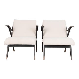 1960s Upholstered Armchairs - a Pair For Sale
