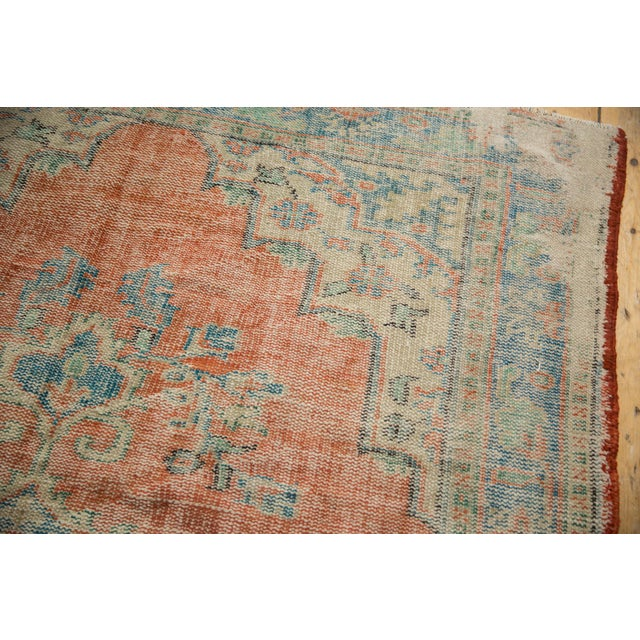"1960s Vintage Distressed Oushak Carpet - 5'11"" X 8'10"" For Sale - Image 5 of 13"