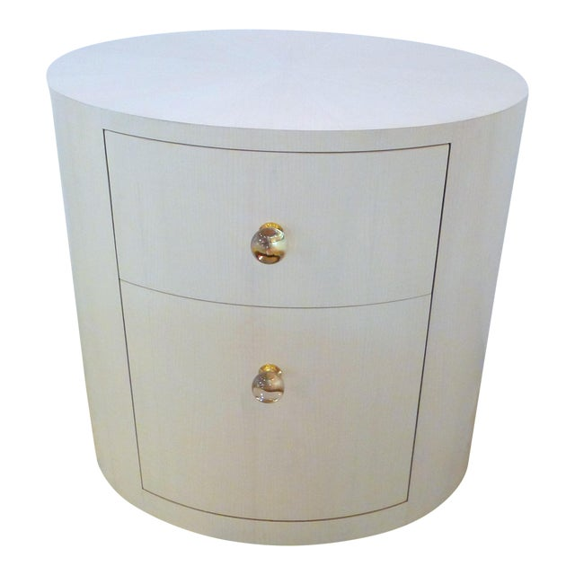 Italian-Inspired 1970S Style Oval Nightstand For Sale