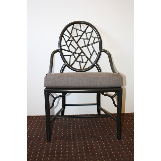 McGuire Cracked Ice Garden Arm Chair - Image 2 of 7