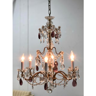 Mid 20th Century Italian Style Crystal Chandelier Preview